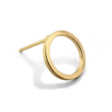 Gold Colour Hoop Stud Earring 10mm x 13mm x 10 pcs